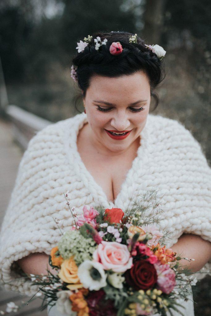 Bruid met boeket in Utrecht