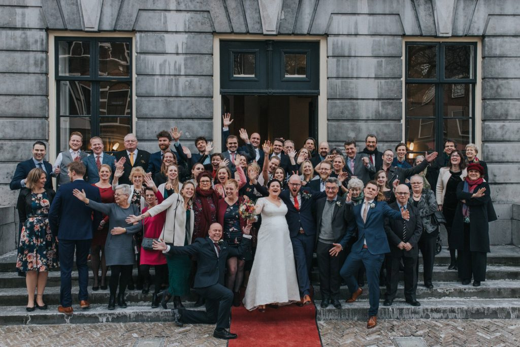 Groepsfoto bruiloft Utrecht
