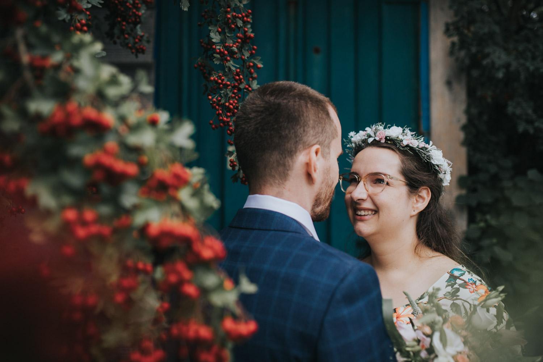 portret van bruidspaar samen