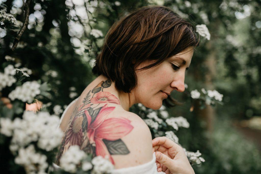portret linda in bloesemboom