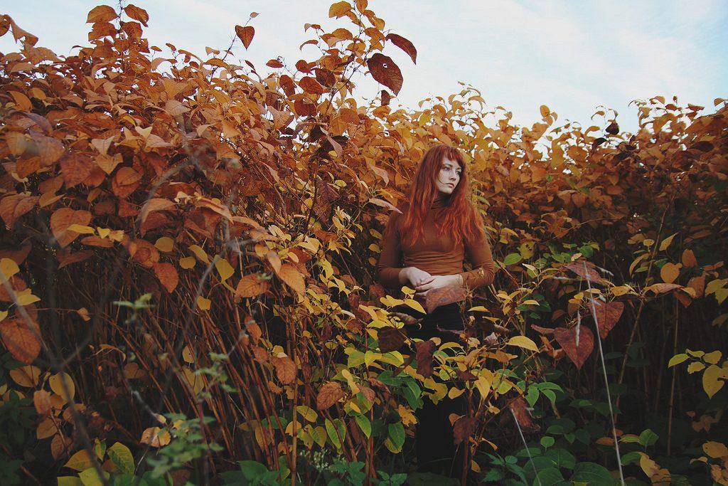 zelfportret dame rood haar