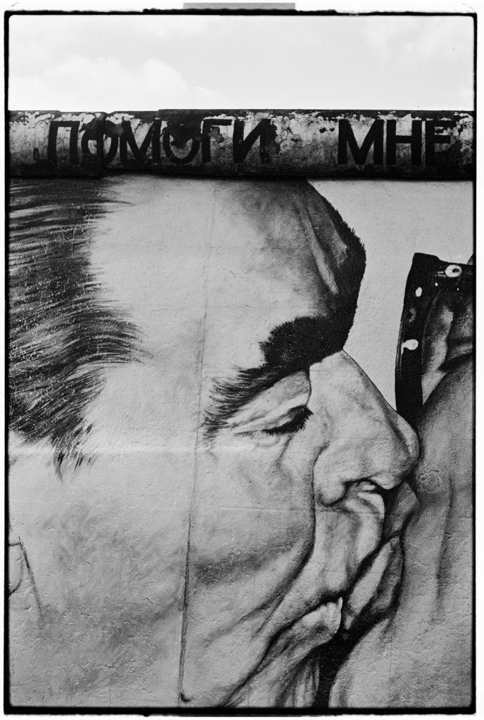 detail van berlijnse muur