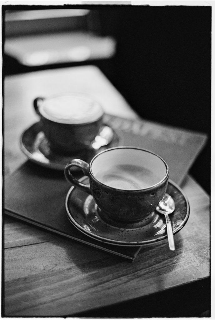 bak koffie in berlijn zwartwit