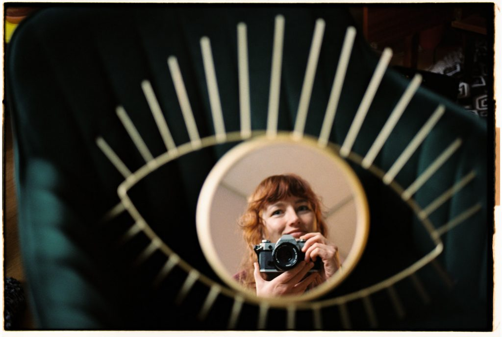 een zelfportret in spiegel