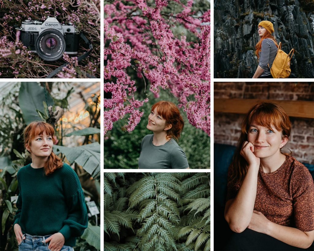 serie foto's zelfportretten vrouw